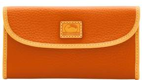 Dooney & Bourke Patterson Leather Continental Clutch Wallet - TANGERINE - STYLE