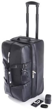 Royce Leather Royce Rolling Duffle Bag Luxury Travel Set - Black