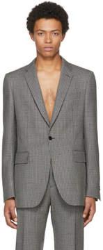 Calvin Klein Grey Fancy Wool Check Blazer