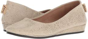 French Sole Zeppa Flat Women's Slip on Shoes