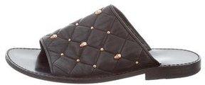 Thomas Wylde Embellished Slide Sandals