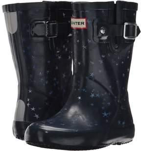 Hunter Flat Sole Constellation Print Rain Boots Kids Shoes