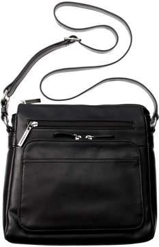 Giani Bernini Nappa Leather Front Zip Crossbody