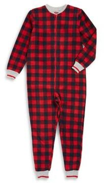 Petit Lem Little Boy's and Boy's Plaid Coverall Pajamas