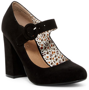 Restricted Birdie Velvet Mary Jane Pump