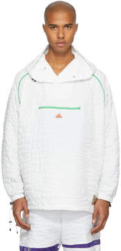 adidas x Kolor White Nylon Embossed Jacket