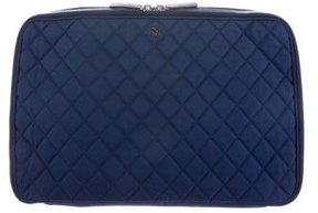Chanel Quilted Laptop Case