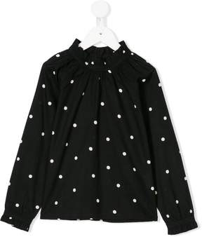 Emile et Ida dot pattern blouse