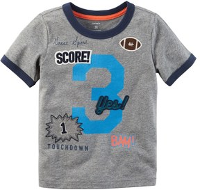 Carter's Toddler Boy 3 Patched Applique Graphic Tee