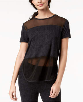 Lush Ande Luxe Mesh-Panel Pajama Top