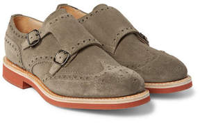 Church's Kelby Suede Monk-Strap Wingtip Brogues