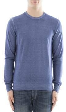 Gran Sasso Men's Blue Cashmere Sweater.