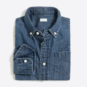 J.Crew Boys' long-sleeve chambray shirt