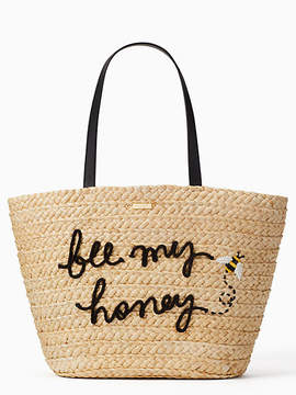 Kate Spade Picnic perfect straw bee tote - MULTI - STYLE