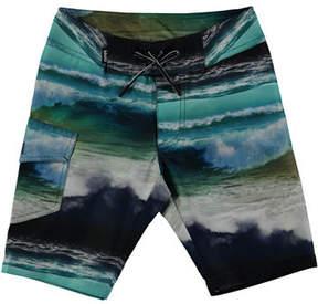 Molo Nalvaro Orca Whale Board Shorts, Size 2T-6
