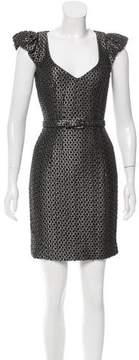 Andrew Gn Metallic Wool Dress