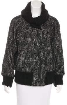 ICB Herringbone Rib-Trimmed Jacket