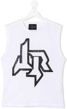 John Richmond Kids TEEN logo print tank top
