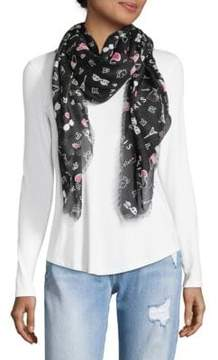 Karl Lagerfeld Ditzy Paris Graphic Scarf