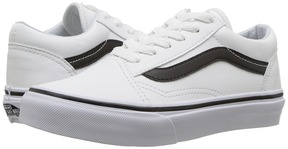 Vans Kids Old Skool True White/Black) Boys Shoes