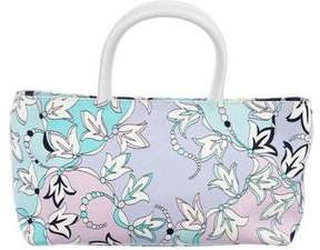 Emilio Pucci Leather-Trimmed Canvas Floral Tote
