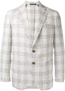 Eleventy checked, slim fitting blazer
