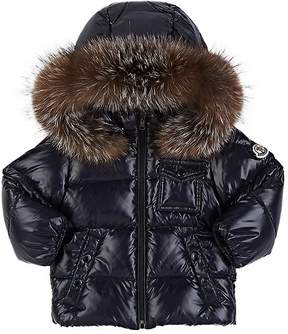 Moncler Infants' Fur-Trimmed Down-Quilted Hooded Coat