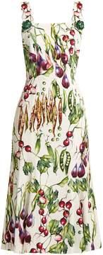 Dolce & Gabbana Vegetable-print square-neck dress