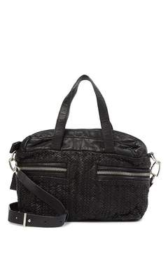 Liebeskind Berlin Arizona Distressed Woven Leather Satchel