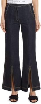 Each X Other Women's Wide-Leg Cotton Jeans - Dark Blue, Size 29 (6-8)