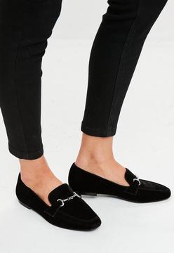 Missguided Black Velvet Loafers