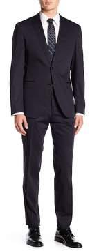 HUGO BOSS Reyno Woven Notch Collar Flat Front Pants 2-Piece Suit