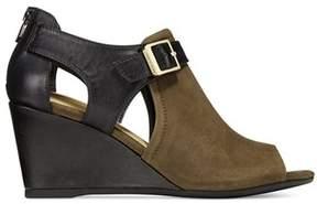 Giani Bernini Womens Alyssaa Leather Peep Toe Casual Platform Sandals.