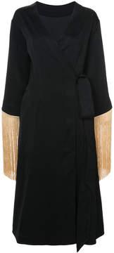 Ellery Ritz fringed wrap dress