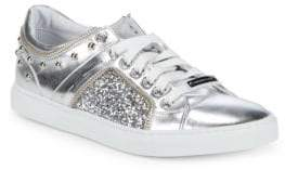 Alessandro Dell'Acqua Low-Top Metallic Sneakers