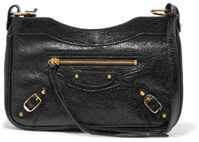 Balenciaga - Classic Hip Textured-leather Shoulder Bag - Black