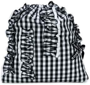 Simonetta ruffled detail check backpack