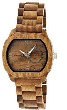 Earth Scaly Collection ETHEW2104 Unisex Wood Watch with Wood Bracelet-Style Band