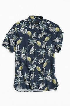 Barney Cools Black Floral Short Sleeve Button-Down Shirt