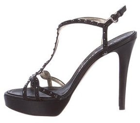 Walter Steiger Satin Embellished Sandals