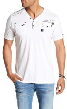 ProjekRaw Projek Raw Short Sleeve Henley T-Shirt