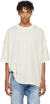 Fear Of God Beige Mesh Oversized T-Shirt