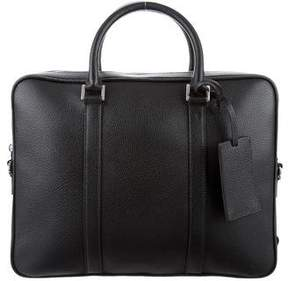 Prada Grain Leather Logo Briefcase w/ Tags
