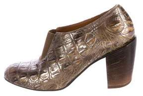 Dries Van Noten Metallic Embossed Booties