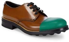 Prada Men's Colorblocked Almond Toe Oxfords