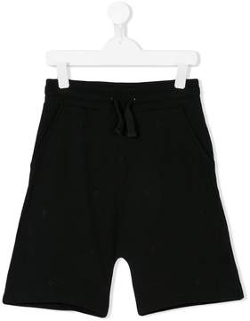Marcelo Burlon County of Milan Kids logo embroidered track shorts