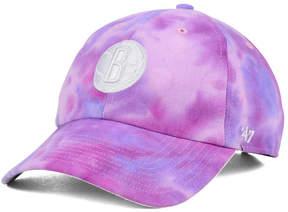 '47 Brooklyn Nets Pink Tie-Dye Clean Up Cap