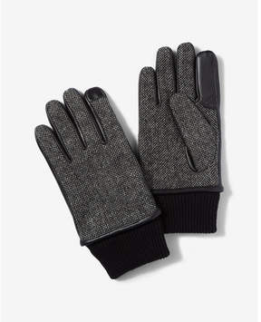 Express mixed media touchscreen gloves