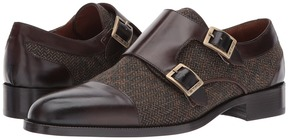 Etro Wool/Leather Double Monk Men's Shoes