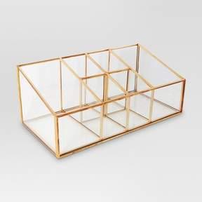 Threshold Glass & Metal Vanity Organizer